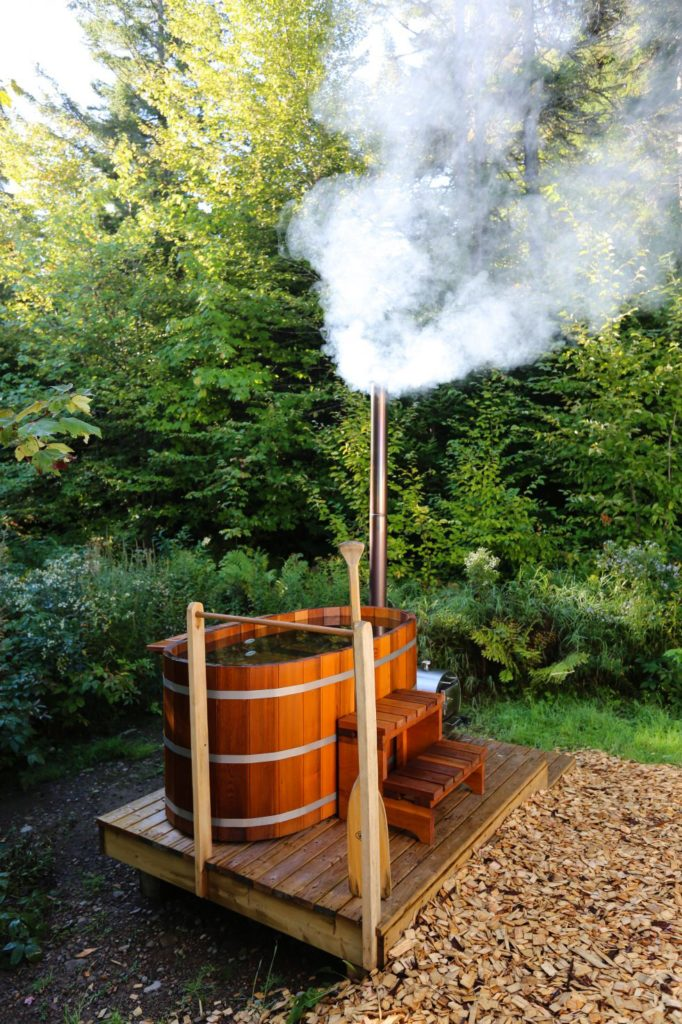 Wood-fired Hot Tub Photo: Caley Vanular